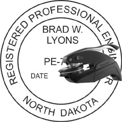 Engineer Seal - Pocket Style - North Dakota