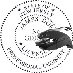 Engineer Seal - Pocket Style - New Jersey