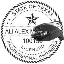 Engineer Seal - Pocket Style - Texas
