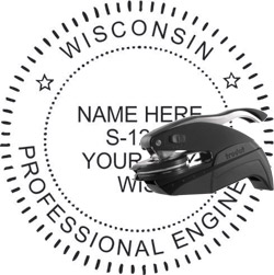 Engineer Seal - Pocket Style - Wisconsin