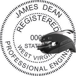 Engineer Seal - Pocket Style - West Virginia