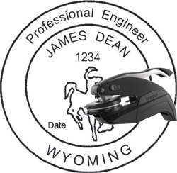 Engineer Seal - Pocket Style - Wyoming