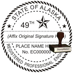 Engineer Seal - Wood Stamp - Alaska