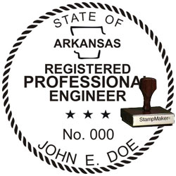 Engineer Seal - Wood Stamp - Arkansas