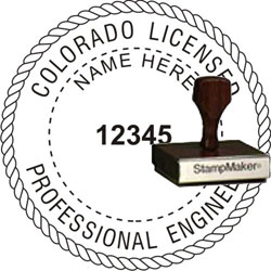 Engineer Seal - Wood Stamp - Colorado
