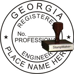 Engineer Seal - Wood Stamp - Georgia
