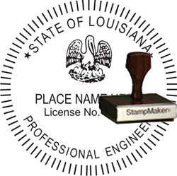 Engineer Seal - Wood Stamp - Louisiana