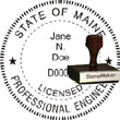 Engineer Seal - Wood Stamp - Maine ENGINEER_STAMP_WOOD_MAINE