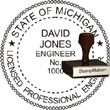 Engineer Seal - Wood Stamp - Michigan ENGINEER_STAMP_WOOD_MICHIGAN