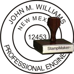 Engineer Seal - Wood Stamp - New Mexico