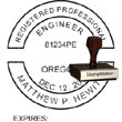 Engineer Seal - Wood Stamp - Oregon ENGINEER_STAMP_WOOD_OREGON