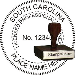 Engineer Seal - Wood Stamp - South Carolina
