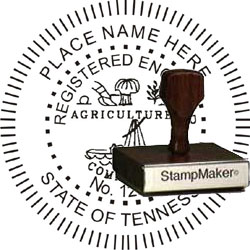 Engineer Seal - Wood Stamp - Tennessee