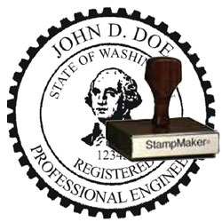 Engineer Seal - Wood Stamp - Washington