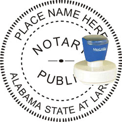 Notary Seal - Pre-Inked Stamp - Alabama