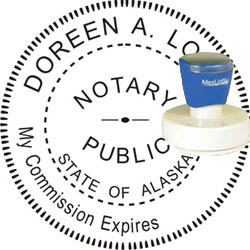 Notary Seal - Pre-Inked Stamp - Alaska