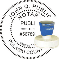 Notary Seal - Pre-Inked Stamp - Arkansas