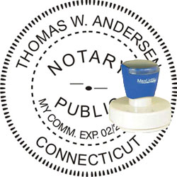 Notary Seal - Pre-Inked Stamp - Connecticut