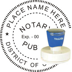 Notary Seal - Pre-Inked Stamp - Dist of Columbia