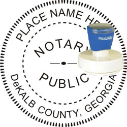 Notary Seal - Pre-Inked Stamp - Georgia