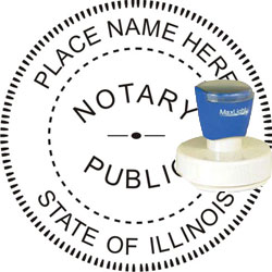 Notary Seal - Pre-Inked Stamp - Illinois