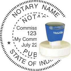 Notary Seal - Pre-Inked Stamp - Indiana