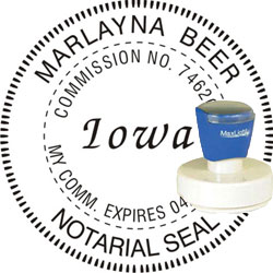 Notary Seal - Pre-Inked Stamp - Iowa