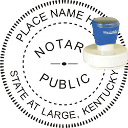 Notary Seal Pre Inked Stamp Kentucky
