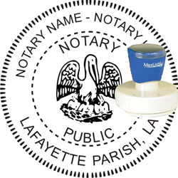 Notary Seal - Pre-Inked Stamp - Louisiana