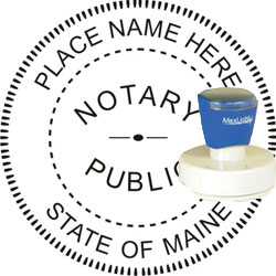 Notary Seal - Pre-Inked Stamp - Maine