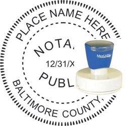 Notary Seal - Pre-Inked Stamp - Maryland