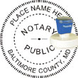 Notary Seal - Pre-Inked Stamp - Maryland NOTARY_SEAL_MARYLAND_PRE-INKED_STAMP