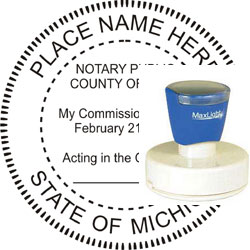 Notary Seal - Pre-Inked Stamp - Michigan