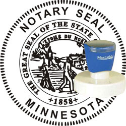 Notary Seal - Pre-Inked Stamp - Minnesota