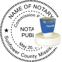Notary Seal - Pre-Inked Stamp - Mississippi