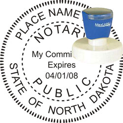 Notary Seal - Pre-Inked Stamp - North Dakota
