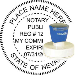 Notary Seal - Pre-Inked Stamp - Nevada