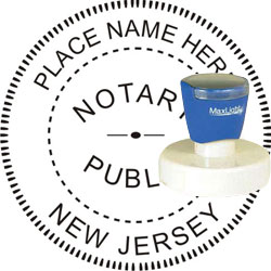 Notary Seal - Pre-Inked Stamp - New Jersey