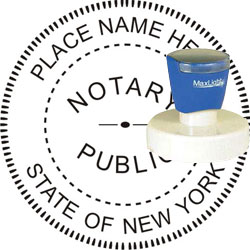 Notary Seal Pre Inked Stamp New York