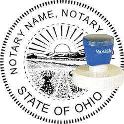 Notary Seal - Pre-Inked Stamp - Ohio