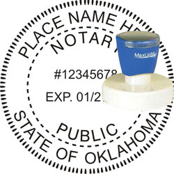 Notary Seal - Pre-Inked Stamp - Oklahoma