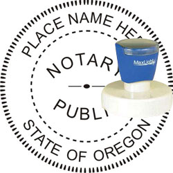 Notary Seal - Pre-Inked Stamp - Oregon