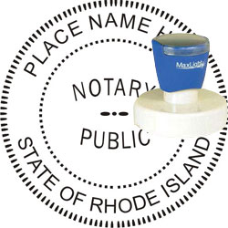 Notary Seal - Pre-Inked Stamp - Rhode Island