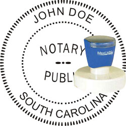 Notary Seal - Pre-Inked Stamp - South Carolina