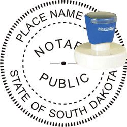 Notary Seal - Pre-Inked Stamp - South Dakota