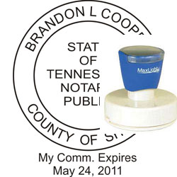 Notary Seal - Pre-Inked Stamp - Tennessee