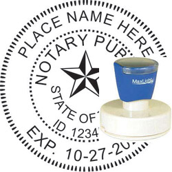 Notary Seal - Pre-Inked Stamp - Texas