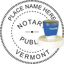 Notary Seal - Pre-Inked Stamp - Vermont