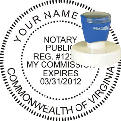 Notary Seal - Pre-Inked Stamp - Virginia