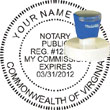Notary Seal - Pre-Inked Stamp - Virginia NOTARY_SEAL_VIRGINIA_PRE-INKED_STAMP